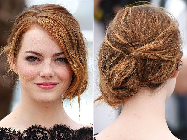 Emma Stone with Red Hair at the Cannes Film Festival 2015 | Makeup Tutorials http://makeuptutorials.com/22-looks-we-loved-from-cannes-film-festival-2015: