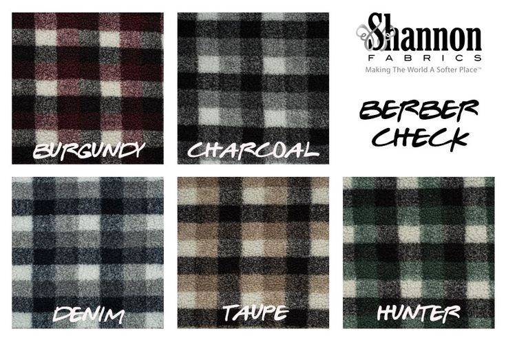 This super soft high quality faux fur printed Sherpa fabric has a 1/4'' long fluffy pile. It's perfect for stuffed animals, faux fur jackets and vests, collars, pillows and throws, baby items and accessories. http://www.shannonfabrics.com/index.php?main_page=advanced_search_result&search_in_description=1&keyword=berber+check
