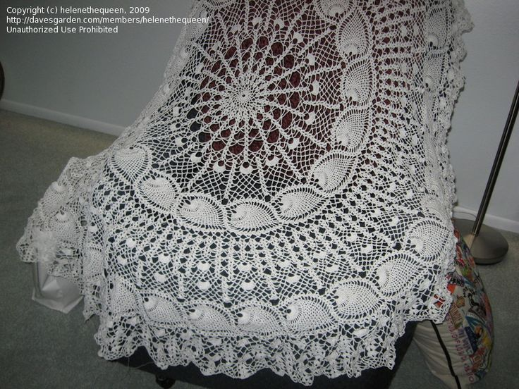 Free Crochet Patterns to Print | Needle Arts: helenethequeen picture (Oval crochet table cloth pattern)