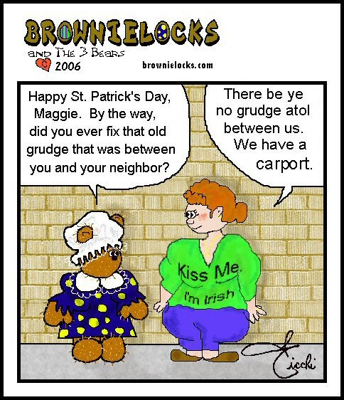 Teddy Bear Cartoon: Irish Joke 4 - Good Neighbors? Good, Clean, Family Fun by Brownielocks. :): Teddy Bears, Irish Joke, The Irish, Family Fun
