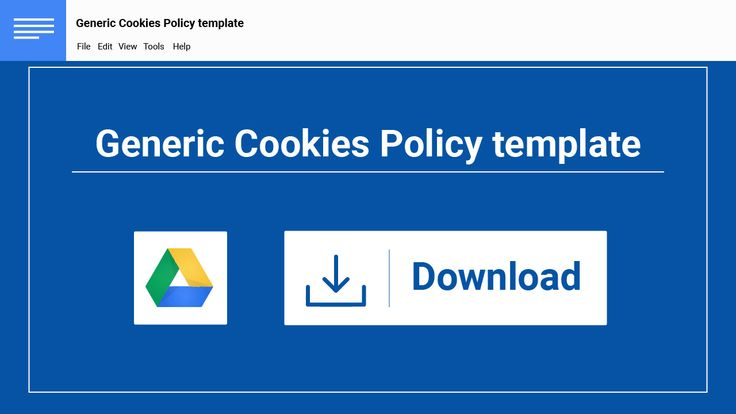 create your cookies policy today with the help of our popular template