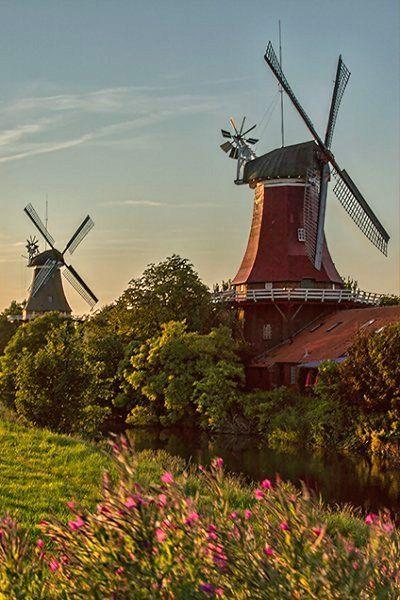 Windmills.. Greetsiel, East Frisia, Germany