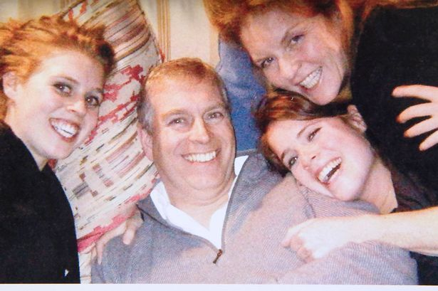 Sarah Ferguson, Prince Andrew, Princess Beatrice and Princess Eugenie