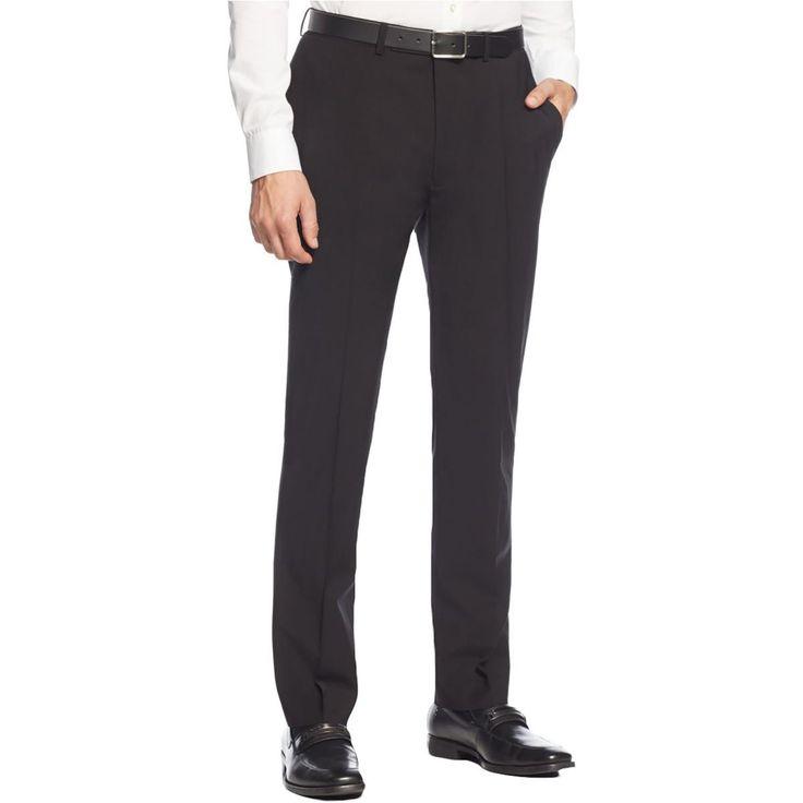 Calvin Klein Mens Wool Extreme Slim Fit Dress Pants