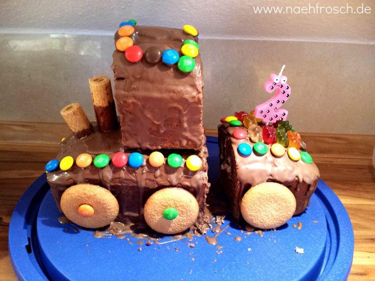 Nähfrosch Kindergeburtstag Geburtstags Kuchen Backen Eisenbahn Kuchen Zwei Zweiter Geburtstag