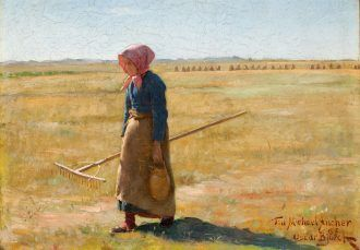 Oscar Björck: Harvesting Girl. 1880 | Anchers Hus | Skagens Kunstmuseer | Art Museums of Skagen