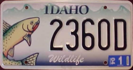 17 best images about fishy license plates on pinterest for Idaho fishing license