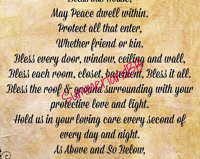 Large Home Blessing Spell Digital Download Book of Shadows Pages - Wiccan - Witch - Spells - BOS - Home Protection Spell Ritual Blessing
