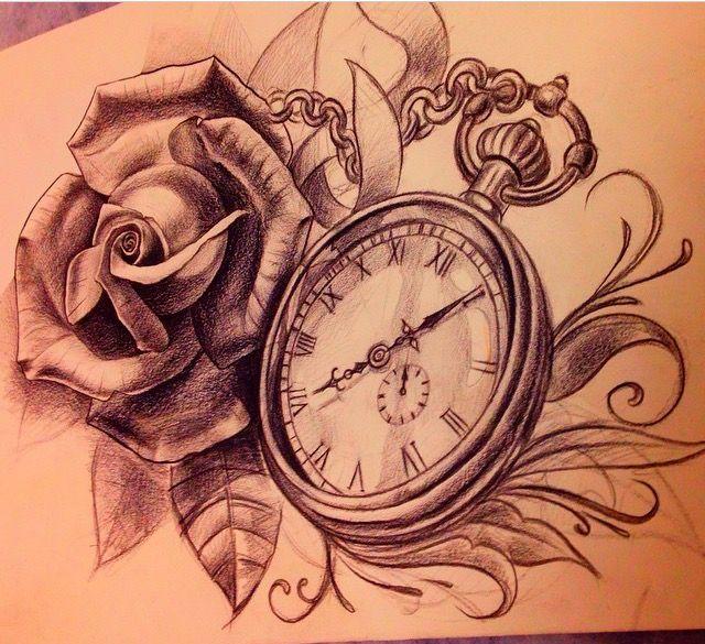 Taschenuhr bleistiftzeichnung  Die 25+ besten Taschenuhr Tattoos Ideen auf Pinterest | Uhr Tattoo ...