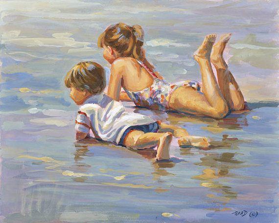 SALE Golden Girls Canvas Giclee 16x20 Lucelle Raad by AllThatArt