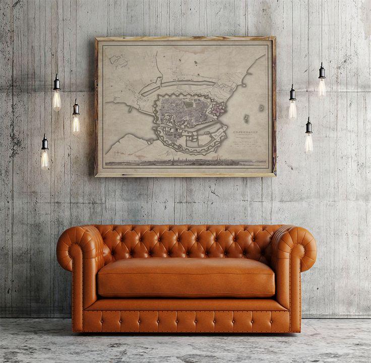 Louisiana Denmark Map%0A Copenhagen Map Vintage Map of Copenhagen  Denmark Circa   th C