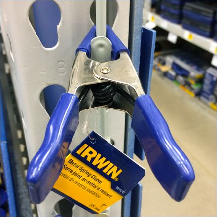 I am not sure if this Clamp self-mount to Clip Strip is the idea of Irwin® itself, or a customers in-store trial, but I suggest it should be Irwin's own Try-Me. What better way to demonstrate a Cla...