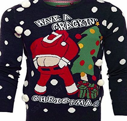 SS7 NEW Mens Santa Crackin 3D Christmas Jumper, Sizes S M L XL (M, Navy Crackin Santa) No description (Barcode EAN = 7105552664410). http://www.comparestoreprices.co.uk/december-2016-week-1/ss7-new-mens-santa-crackin-3d-christmas-jumper-sizes-s-m-l-xl-m-navy-crackin-santa-.asp