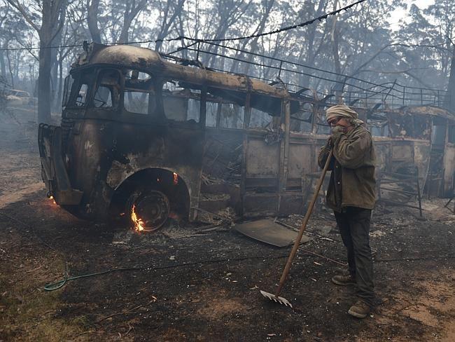 Devastating post bushfire