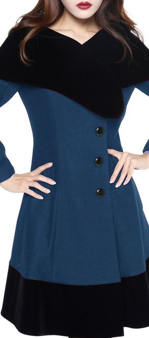 Retro Velvet Collar Coat by Amber Middaugh Standard Size $79.95 Plus Size$95.95