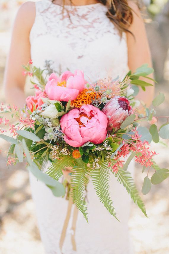 Pink peony bouquet | Wedding & Party Ideas | 100 Layer Cake