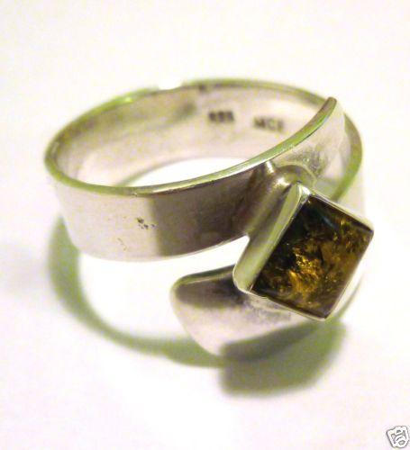 Silberring-Ring-Bernstein-925-er-Bernsteinring-Silberschmuck-Sterling-Silber