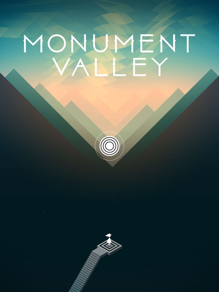Monument Valley | Splash Screen (End Chapter 1) | UI, HUD, User Interface, Game Art, GUI, iOS, Apps, Mobile Games, Grahic Desgin, Puzzle Game, Brain Games, ustwo | www.girlvsgui.com