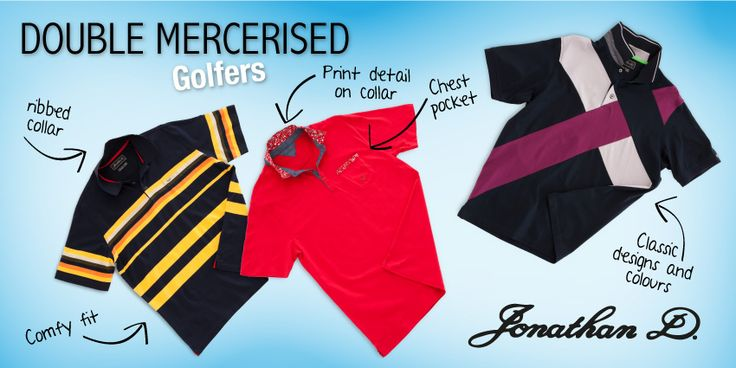 Jonathan D boasts a wide range of double mercerised golfers. From plains to stripes and bold colours and patterns, there's a golfer available to suit whatever your personal style may be. Get yourself a Double Mercerised Golfer by Jonathan D.