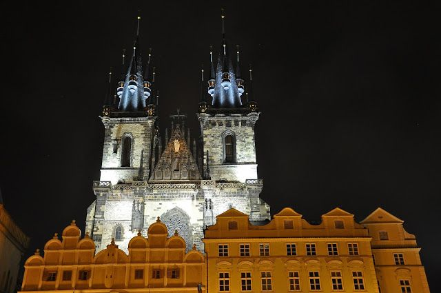 Prague Architecture at Night