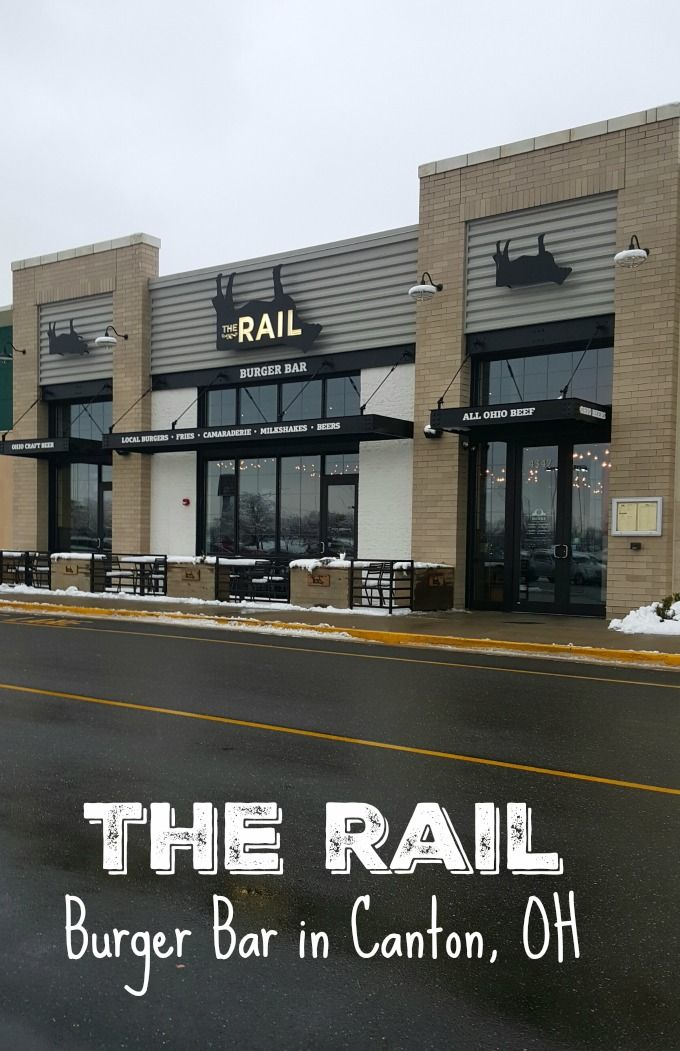 The Rail Burger Bar in Canton, Ohio offers locally sourced ingredients to create amazing food in a fun atmosphere.