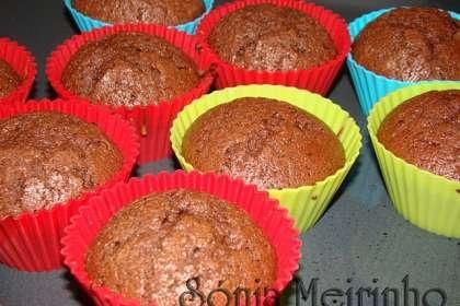 Queques de chocolate/ Bolo de chocolate com côco ralado