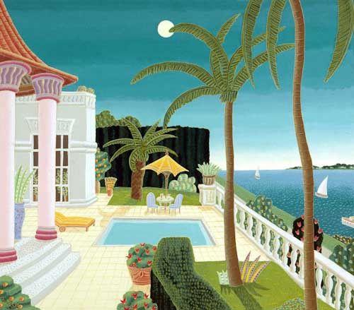 Thomas McKnight, Palm Beach Pavilion, Giclée