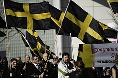 St David's Day - the national day of Wales, 1st march. (Image of crowds with St David's Flags by National Assembly for Wales on Flickr)