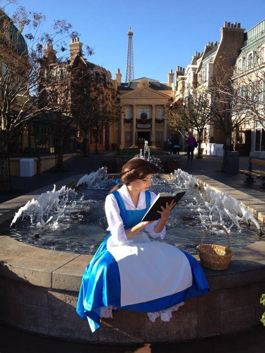 Fun shot of Belle!: Walt Disney World, Princesses Belle, Cosplay, Real Life, Disney Princesses, Disney Obsession, Book, The Beast, France Pavilion