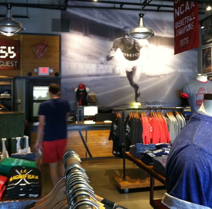 Baseball clothing stores. Clothing stores