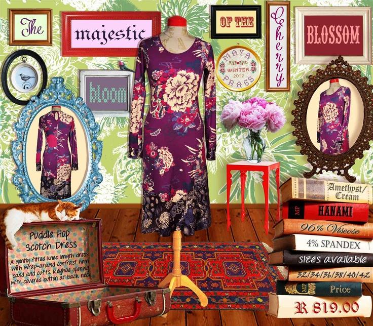 Puddle-Hop-Scotch dress amethyst Hanami