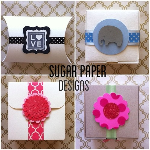 Favor boxes + washi + embellishments from Sugar Paper Designs | for daily washi projects and weekly washi giveaways visit thewashiblog.com | #washi #washitape