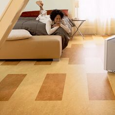 Marmoleum Sheet With Plank Inlays Are Used To Create This Wonderful Floor  Design Which Can Be