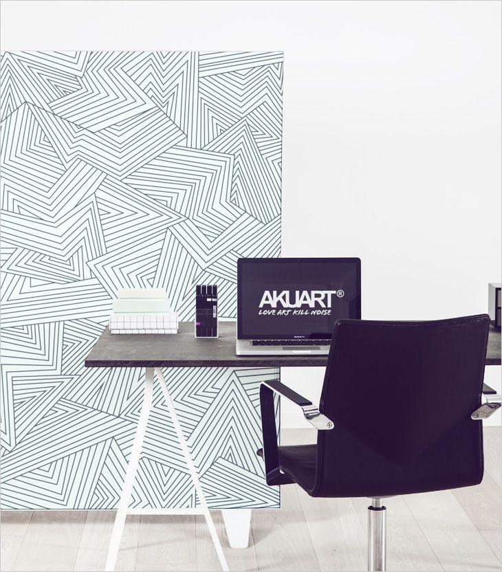 Smartwall akustisk rumdeler med print. Acoustic partition, room divider, skille væg