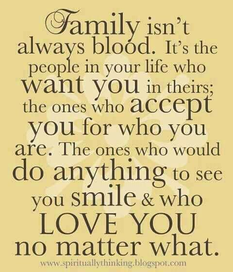 I love my family by choice, they make my life so rich :)Families Quotes