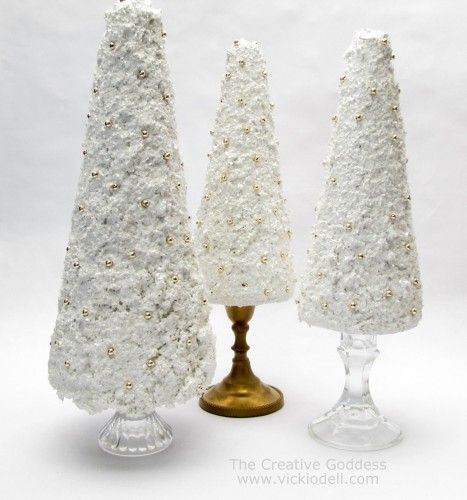 Candle Stick Tabletop Christmas Trees
