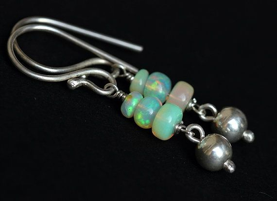Precious Opal earrings  October birthstone  Bridal by Azilaa
