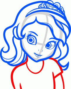 How to draw sofia the first step 7