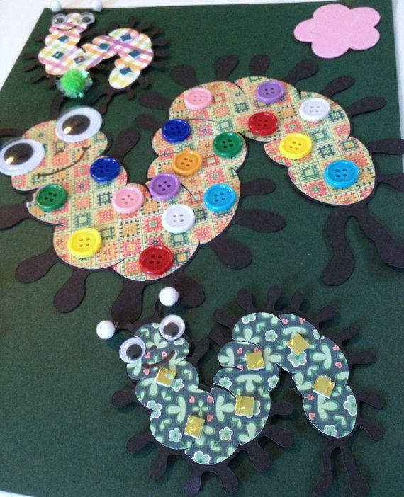 paper centipede bugs craft kit for kids