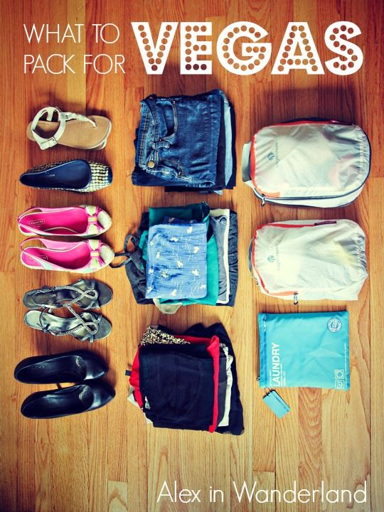 My packing list for a four-day trip to Las Vegas   Alex in Wanderland