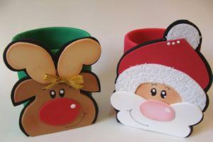 Papai Noel e Rena em EVA – porta trecos com lata