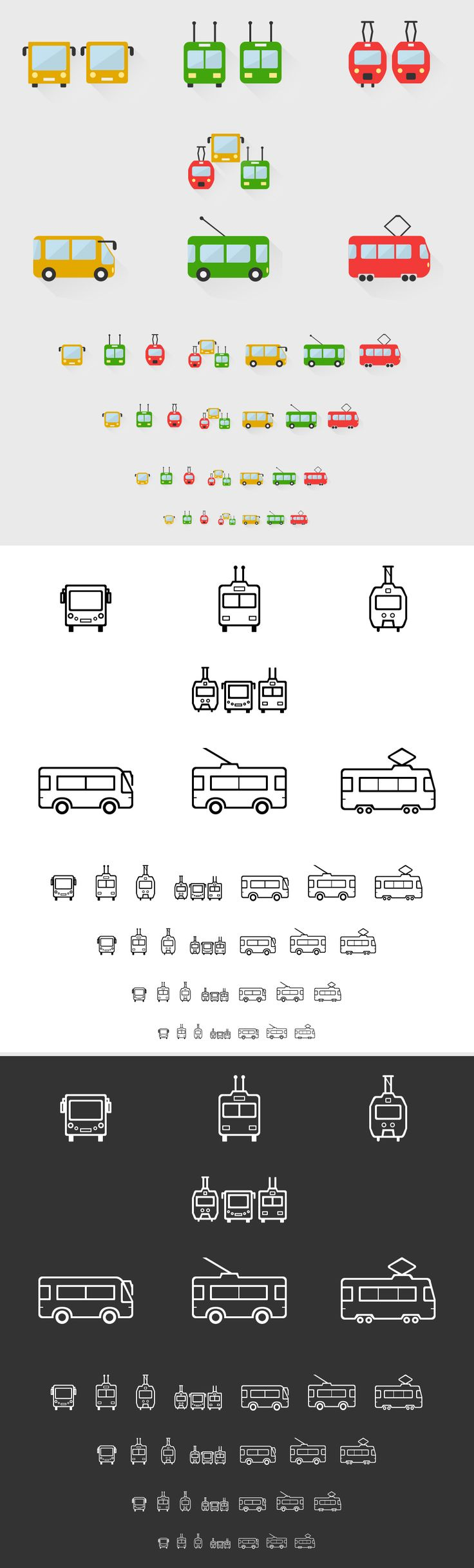 Transport icons on Behance