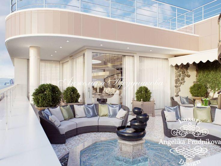 Дизайн проект террасы в ЖК Дубровка в стиле модерн - фото