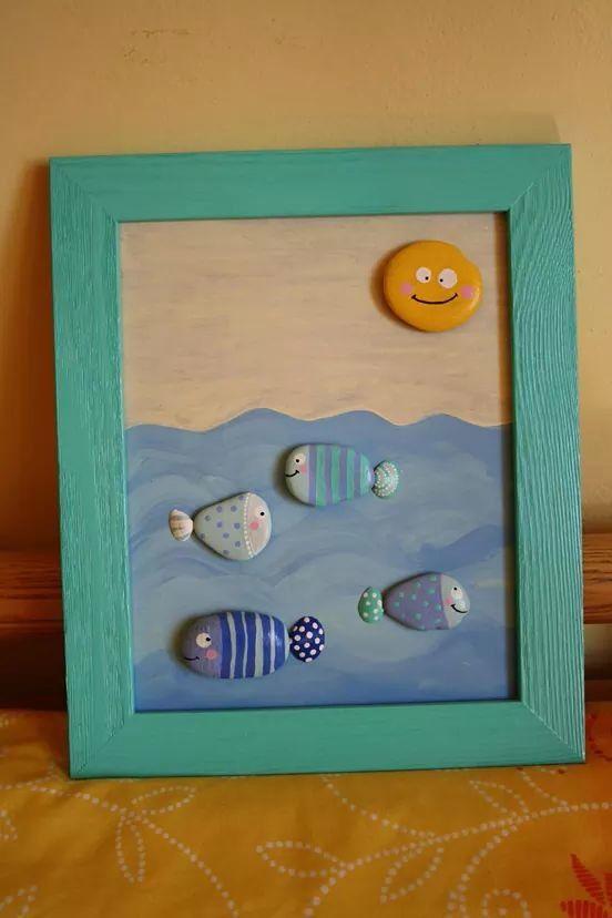 Quadretto pesci baby nursery