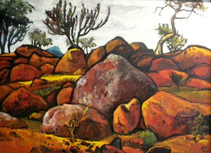 Jannie van Heerden- Painter  ARTISAN GALLERY 344 FLORIDA ROAD, DURBAN +27 31312 4364