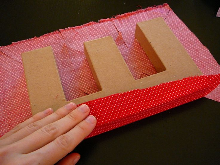 fabric covered letters tutorial.