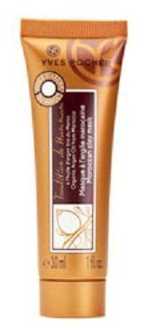 """MOROCCAN Clay Mask for Face and Hair by Yves Rocher Travel Size Tube (1.0 fl.oz. / 30 ml) by Yves Rocher. $5.95. Face and Hair Mask combined in one tube.. """"The Moroccan clay mask with organic argan oil has purifying and softening properties. Your face is cleansed and smooth, with renewed radiance. Your hair is softer and visibly healthier looking.  The Plus : the combination of purifying Moroccan clay with nourishing argan oil produces a very gentle, efficient treatment."""""""