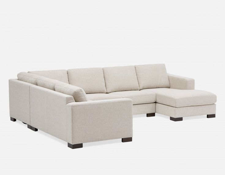 Monroe Light Grey Sectional Sofa Structube Grey