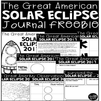 FREE!!! The Great American Solar Eclipse on August 21, 2017 will be the first to cross the U.S.A. coast to coast in almost 100 years! This free journal will be a great keepsake for your 2-4th grade student! Visit my blog post for lots of videos, important links, and other