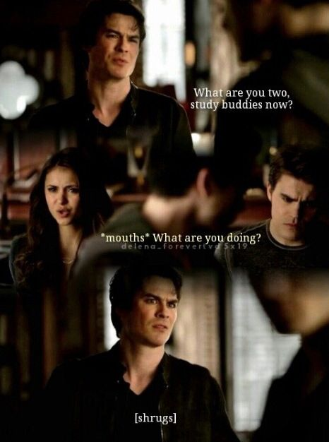 Even though he is dealing with Enzo and had just broken up with Elena he can't see her with Stefan